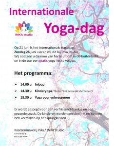 Internationale yoga dag 26 juni 2016